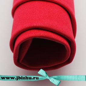 Ревелюр - фоамиран красный, 1 мм 50*70 см